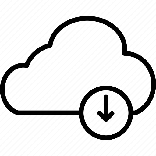 cloud download, cloud network, cloud sharing, computing icon