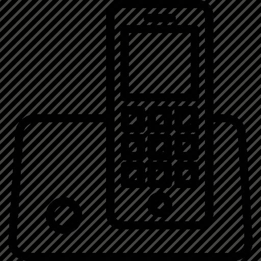 cordless phone, intercom, police radio, radio transceiver icon