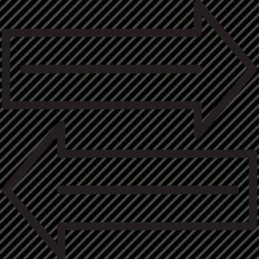 arrows, data share, directional arrow, left arrow icon