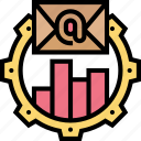 setup, marketing, online, advertisement, email icon
