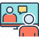 conference, executive, meeting room, online conference, pedestal, video conference, webcam icon