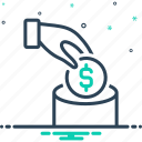 currency, deposite, economy, finance, investment, save money, wealth icon