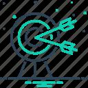 ambition, board, bullseye, darts, intention, quarry, target icon