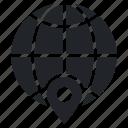 global localization, globe, gps, navigation, world location icon