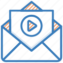 email, envelop, letter, media message, video message icon