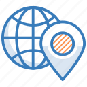 global localization, globe, gps, navigation, world location icon