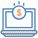 banking, business, computer, ecommerce, income, money icon