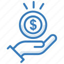 income, profit, revenue icon