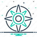 compass, equipment, explore, instrument, nautical, navigation, orienteering icon