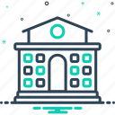 building, college, education, knowledge, primary, school, university icon