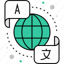 communication, education, international, language, learning, linguistics, translation icon