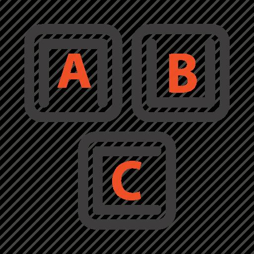abc, alphabet, basic, blocks, knowledge icon