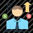 avatar, business, employee, man, sales icon