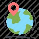 globe, location, marker, pin, worldwide