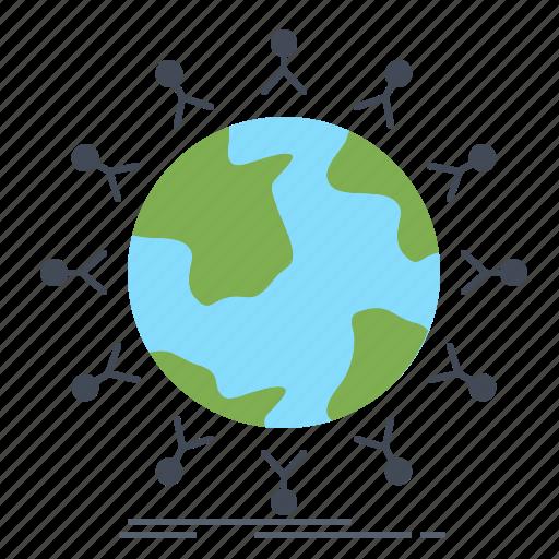 global, globe, kids, network, student icon