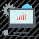 analytics, chart, seo, setting, web