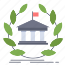 bank, banking, building, education, online, university icon