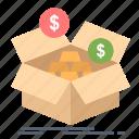 279m, box, budget, growth, money, savings