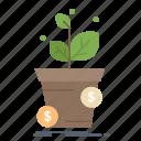 business, dollar, growth, pot, profit