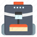 backbag, bag, school, service icon