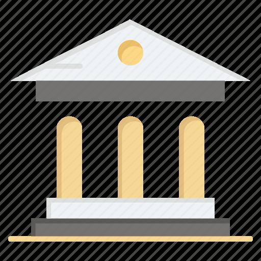 bank, campus, court, university icon