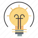 bulb, energy, idea, solution icon
