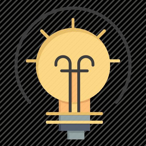 bulb, energy, idea, solution icon