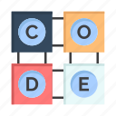 code, education, learning icon
