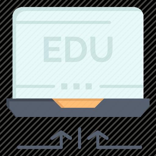 arrow, education, hardware, laptop icon