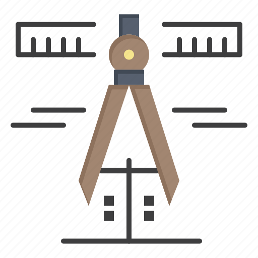 calipers, geometry, measure, tools icon