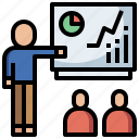 business, class, finance, lecture, people, presentation, sem, seo, training, work icon