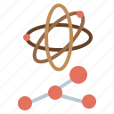 atomic, education, electron, nuclear, physics, science icon