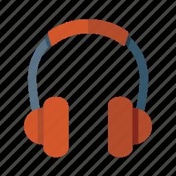 earphones, headphones, music, tech icon
