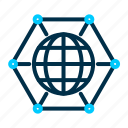 connected, global, internet, iot, of, things icon