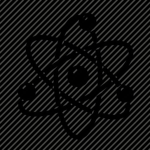 atom, chemistry, lab, reaction, science icon