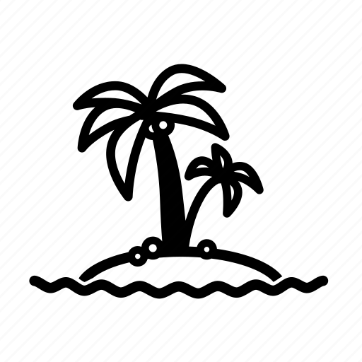 beach, coconut, island, ocean, palm tree, sea, travel icon