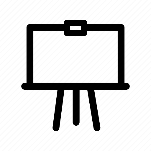 easel, holder, information, painting, presentation, stand, tripod icon