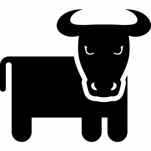 agriculture, animal, bull, cattle, cow, farm, horn icon