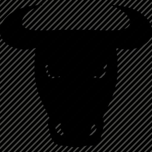 agriculture, animal, bull, cattle, cow head, farm, horn icon