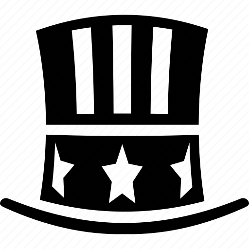 america, hat, party, president, uncle sam hat, united states, usa goverment icon