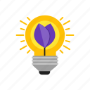 bulb, creative, idea, smart icon