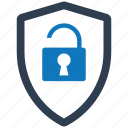 access, granted, security, shield, spyware icon