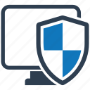 computer, protected, security, shield, spyware icon