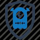 quarantine, security, shield, spyware icon