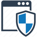 security, shield, spyware, web icon