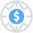 business, currency, finance, gobal, money, office icon