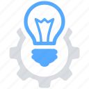 bulb, creative, idea, improve, light icon