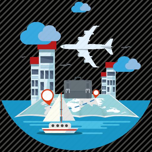 seo icons, seo pack, seo services, travel, web design icon