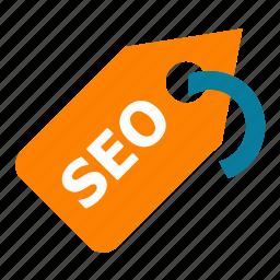 seo, seo tools, social media, tag, web designer, web marketing icon