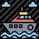 boat, cruise, ship, ships, transport, transportation, yacht icon